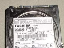 TOSHIBA MK8032GSX, HDD2D32 T ZK01 T, 80GB, SATA 360197980707