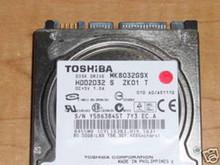 TOSHIBA MK8032GSX, HDD2D32 S ZK01 T, 80GB, SATA 360176887806