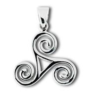 Sterling Silver Celtic Triskele Pendant Large