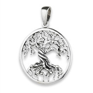 STERLING SILVER TREE OF LIFE PENDANT Twisted