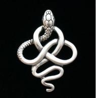 Sterling Silver Snake Celtic Pendant