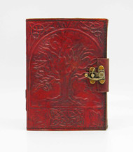 Tree of Life Leather Embossed Journal with lock