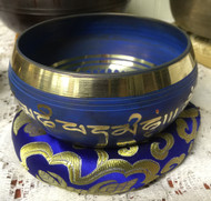 "Nepal Singing Bowl 6"" Colored"