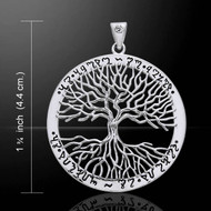 Mickie Mueller Wiccan Tree of Life Silver Pendant