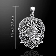 Celtic Knotwork Tree of Life Silver Pendant