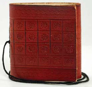 Pocket leather blank journal