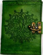 Tree of Life leather Journal Green