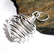 Wire Cage Pendant for Tumbled Stone