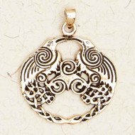 Brass Celtic Raven