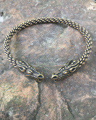 Heavy Braid Celtic Dragon Torc