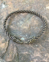 Heavy Braid Celtic Wolf Torc