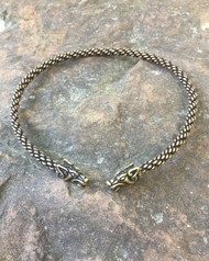 Light Braided Celtic Wolf Torc
