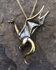 Perched Dragon Pendant Necklace