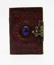 Stone Eye Leather Embossed Journal 3.5 x 5 inches with metal lock