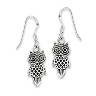 Sterling Silver Owl Earring