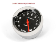 """Solid 5"""" bezel with polished finish. Gauge not included."""