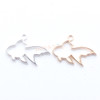 Goldfish Open Bezel Gold Charm - 6 pieces