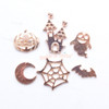 Halloween Metal Embellishment Set - 6 pieces