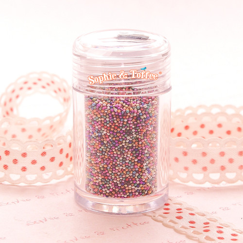 Faux Colorful Micro Beads Deco Toppings - 10 grams