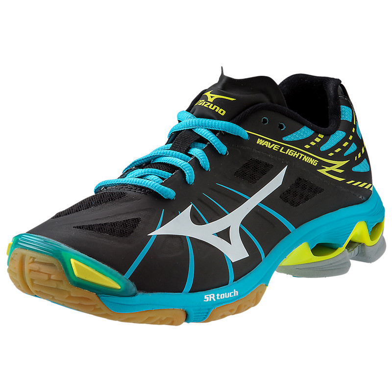 Mizuno Women's Wave Lightning Z - Black-Alaskan Blue