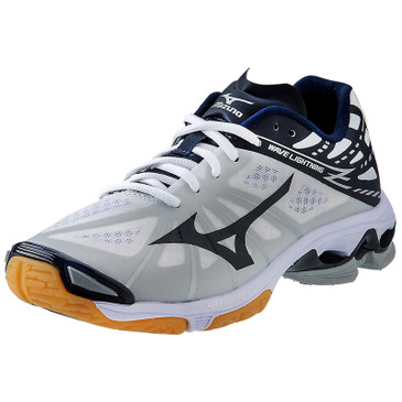 Mizuno Women's Wave Lightning Z - White-Navy