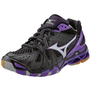 Mizuno Women's Wave Tornado 9 - Black-Purple