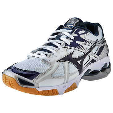 Mizuno Women's Wave Bolt 4 - White-Navy