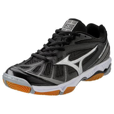 Mizuno Women's Wave Hurricane - Black/Silver