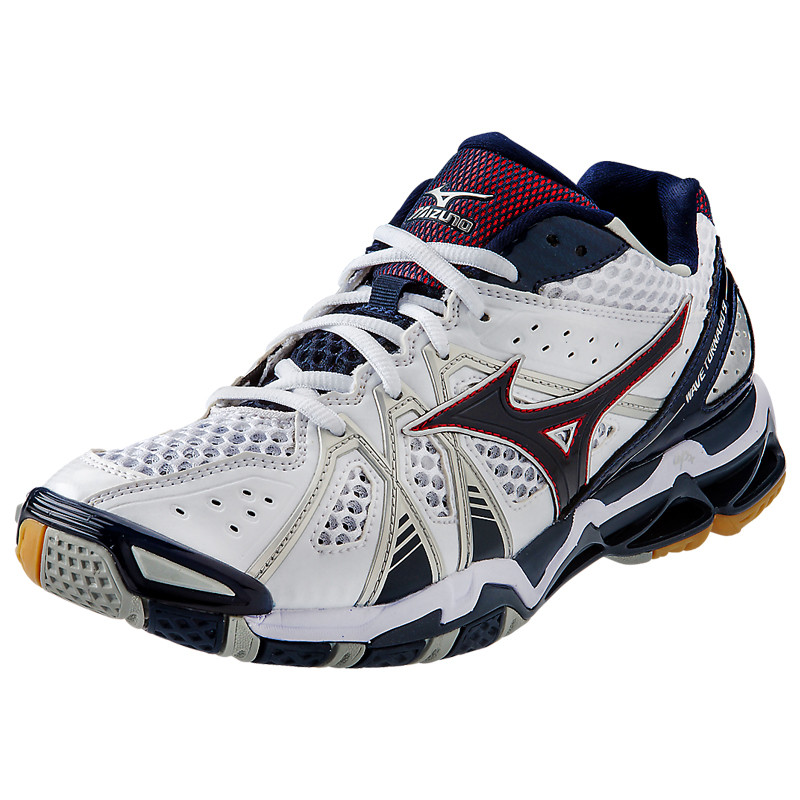 Mizuno Men's Wave Tornado 9 - White-Navy