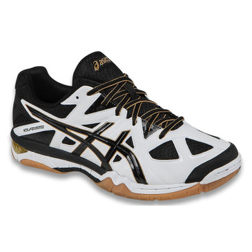 Asics Men's Gel-Tactic - White/Black/Pale Gold