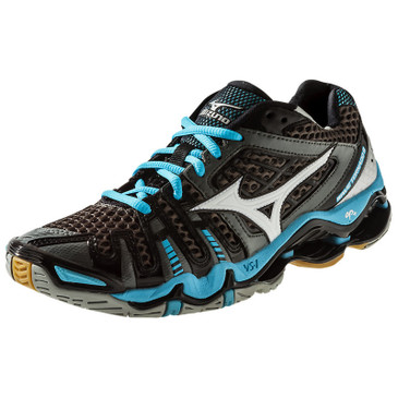 Mizuno Women's Wave Tornado 8 - Gunmetal-Aquarius