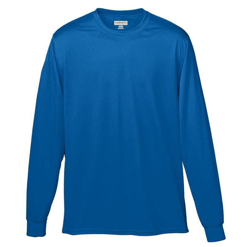 Augusta Men's Wicking Long Sleeve T-Shirt - Royal