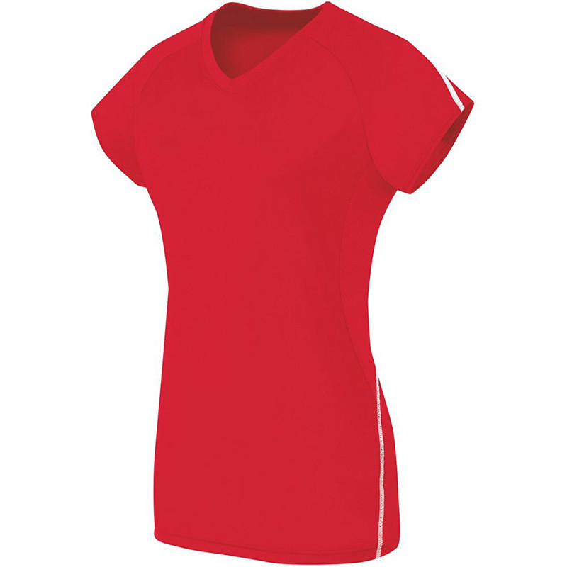 High Five Women's Short Sleeve Solid Jersey - Scarlet