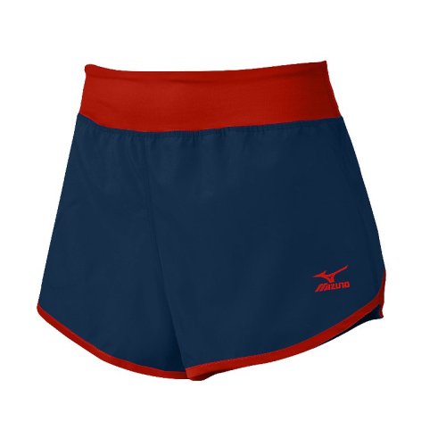 Mizuno Women's Dynamic Cover Up Short - Navy/Red