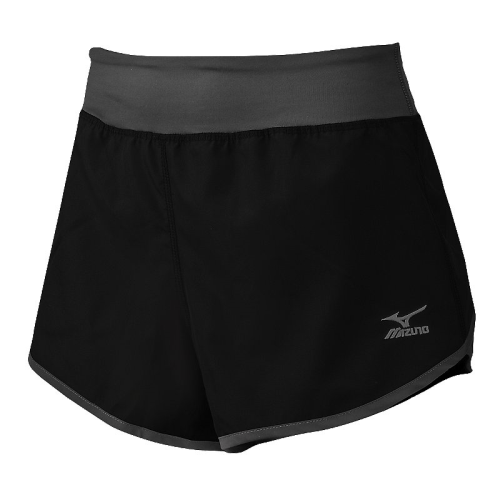 Mizuno Women's Dynamic Cover Up Short - Black/Charcoal