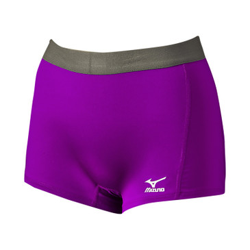 Mizuno Women's Flat Front Short G2 - Electric Purple