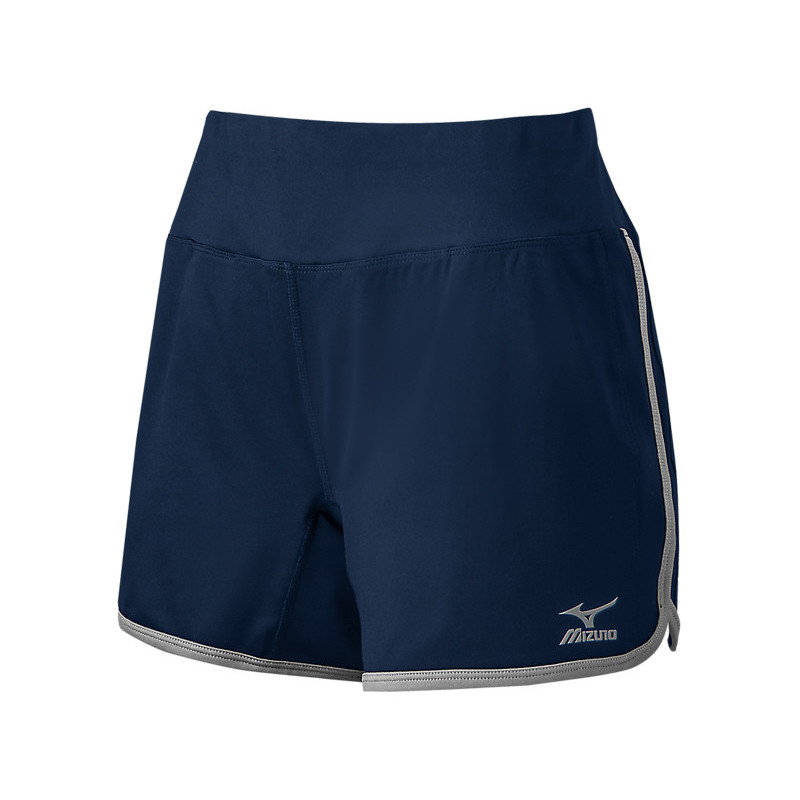 Mizuno Women's Elite 9 Training Short - Navy/Grey