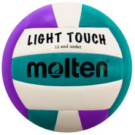 Molten Light Touch Volleyball- Violet/Aqua