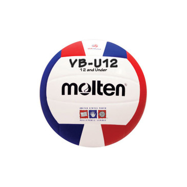 Molten VBU12 Volleyball - Red/White/Blue