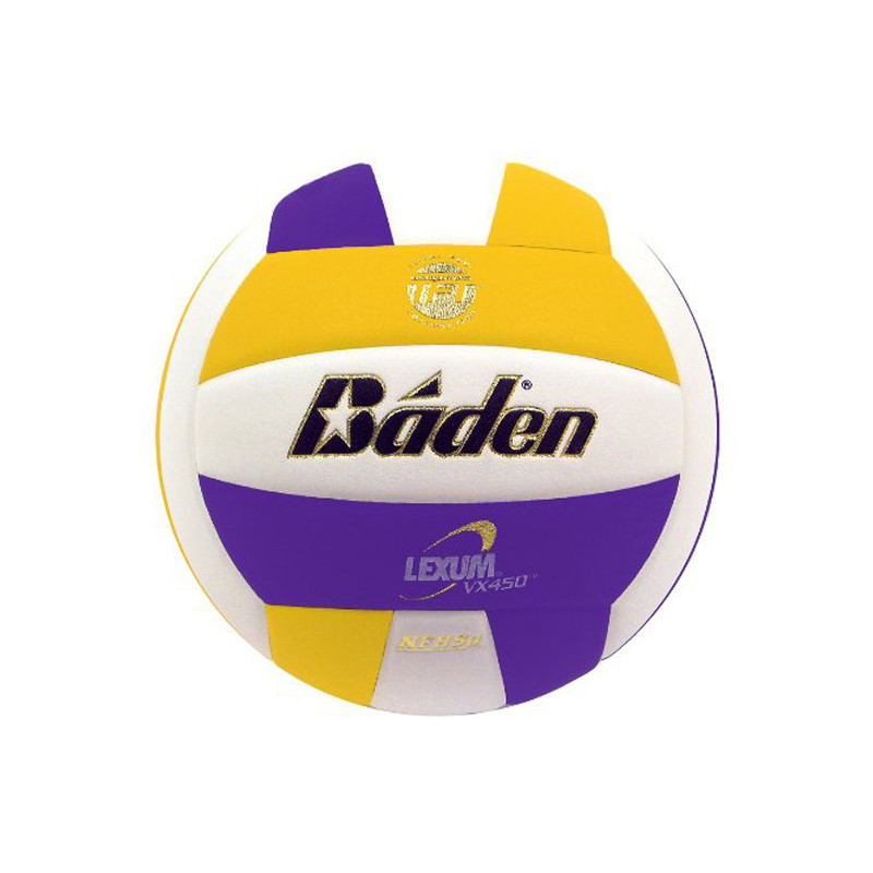 Baden Lexum Comp VX450 Volleyball - Yellow/Maroon