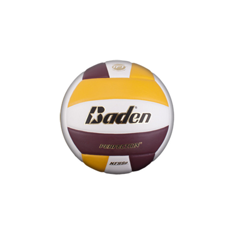 Baden VX5E Perfection Elite Series Volleyball - Yellow/Maroon