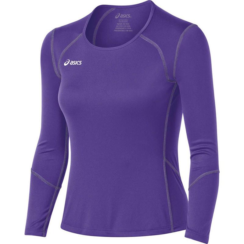 Asics Women's Volleycross Long Sleeve - Purple/Steel Grey