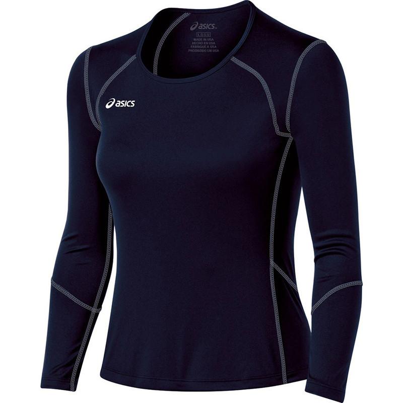 Asics Women's Volleycross Long Sleeve - Navy/Steel Grey