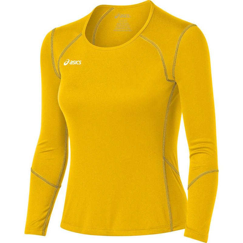 Asics Women's Volleycross Long Sleeve - Gold/Steel Grey