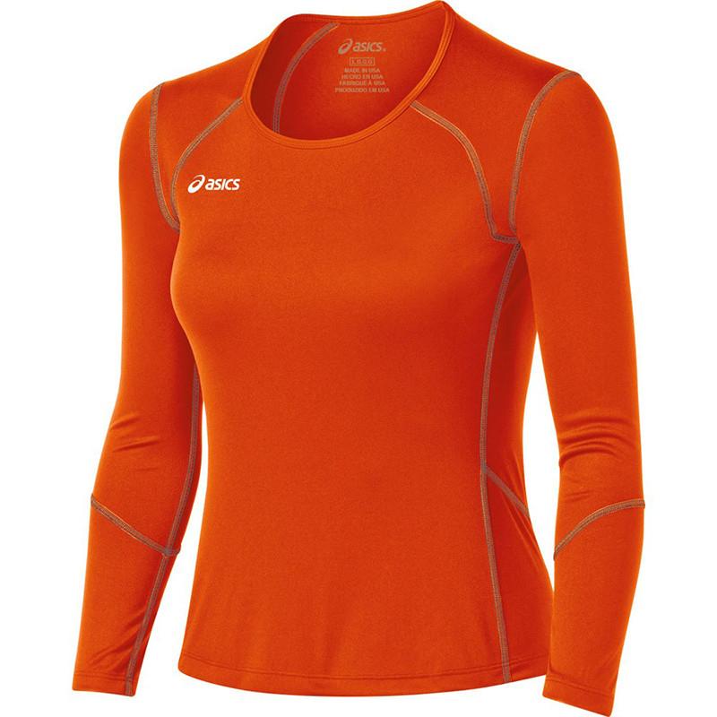 Asics Women's Volleycross Long Sleeve - Orange/Steel Grey