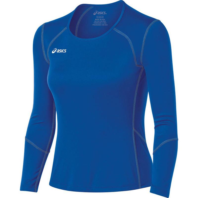 Asics Women's Volleycross Long Sleeve - Royal/Steel Grey