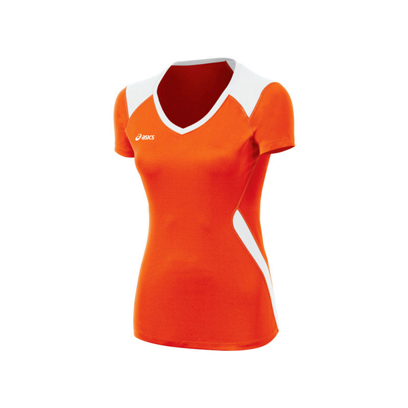 Asics Women's Jr. Set Jersey - Orange/White