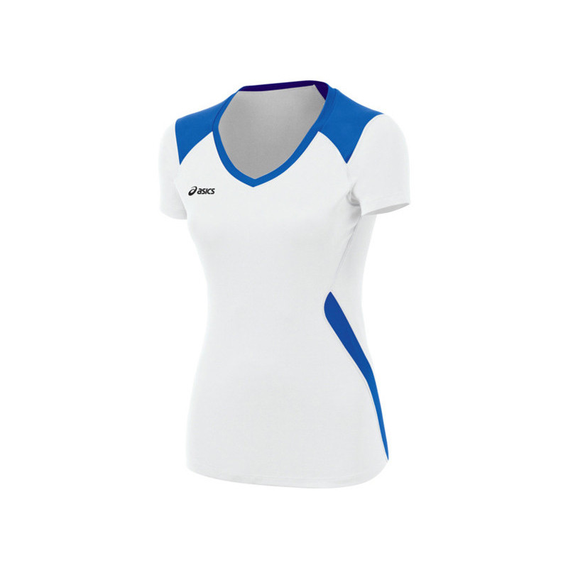 Asics Women's Jr. Set Jersey - White/Royal