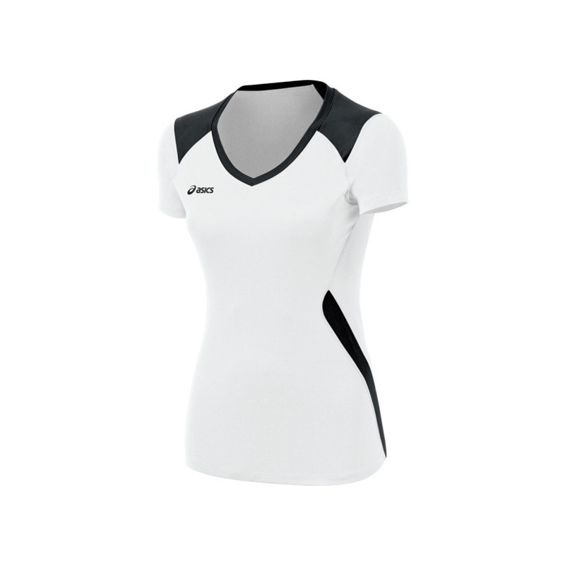 ... Asics Women's Set Jersey - White/Black ...