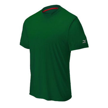 Mizuno Men's Comp Short Sleeve Crew- Forest